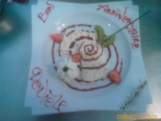 Dessert personalisé à l'occasion d'un anniversaire